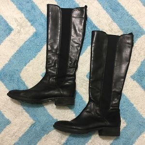 SAM EDELMAN Black Paradox Riding Boots